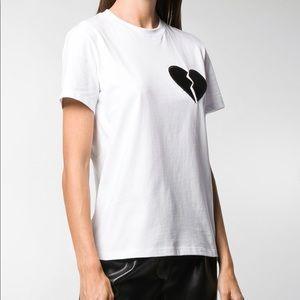 MSGM Broken Heart Patch T shirt sz M